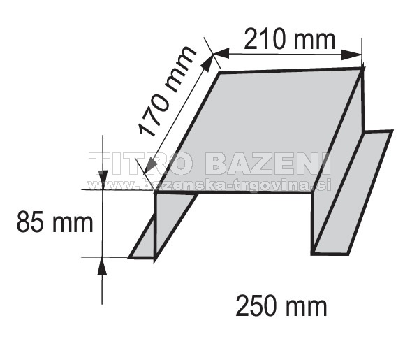 Talni nosilec črpalke iz 2 mm debele pločevine