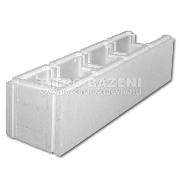 STIROPOOL zidak - standard, ravni