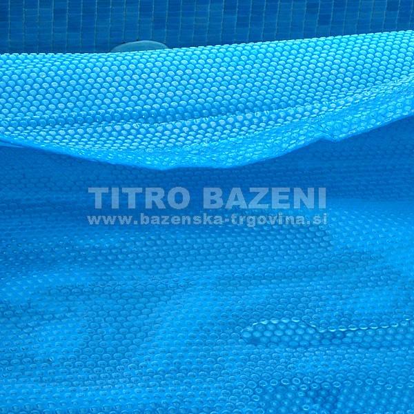 Čelno zarobljeno termo pokrivalo za bazen PROSOJNO MODRO - izvedba COMFORT