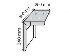 Stenski nosilec iz 3 mm debele pločevine