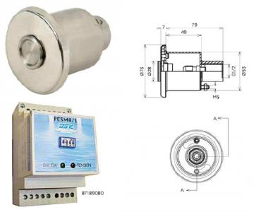 Električna omarica in gumb za plavalne naprave
