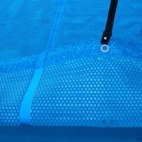 Po celotnem obsegu zarobljeno termo pokrivalo za bazen PROSOJNO MODRO izvedba  PRESTIGE